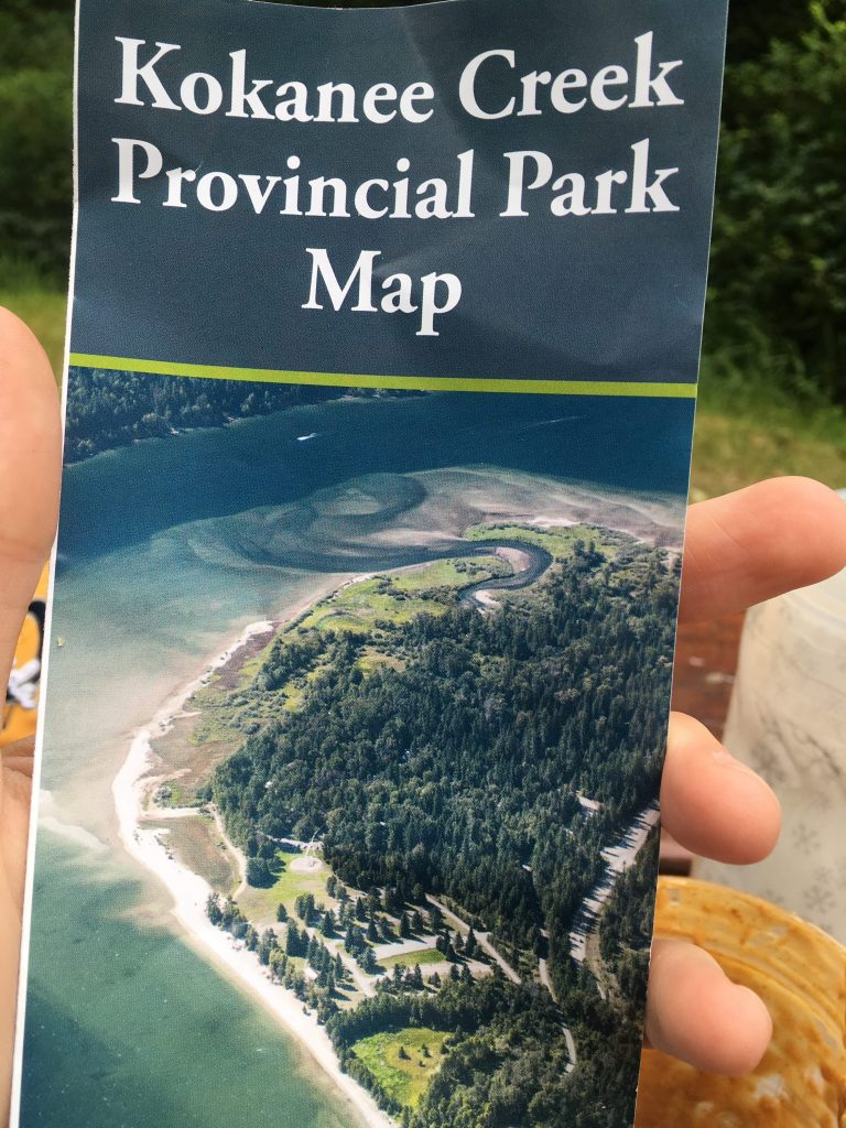 Après le Lac Kootenay, faut se trouver un camping. Ah ben, regarde donc ça... Ça te dit quelque chose, ça, mon Robert?